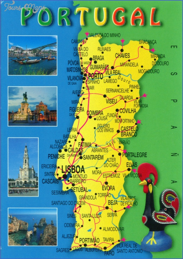 Portugal Map Tourist Attractions Map Travel Holiday Vacations - Portugal on map