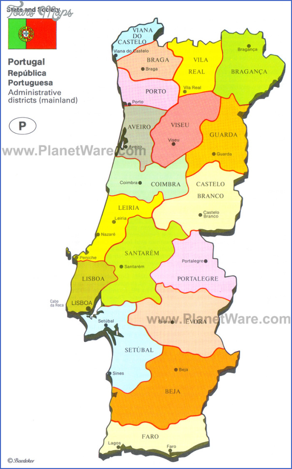 portugal map 2 Portugal Map