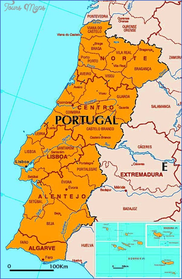 portugal map map travel holiday vacations