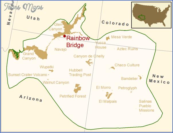 rainbow bridge national monument map utah 0 RAINBOW BRIDGE NATIONAL MONUMENT MAP UTAH