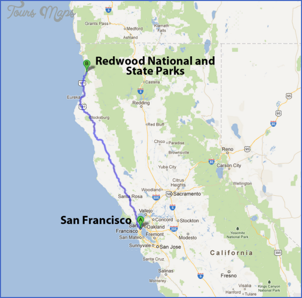 California Map Of National Parks.Redwood National Park Map California Toursmaps Com