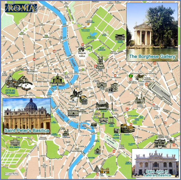 rome map tourist attractions 1 Rome Map Tourist Attractions