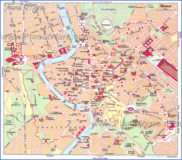 rome map tourist attractions 3 Rome Map Tourist Attractions