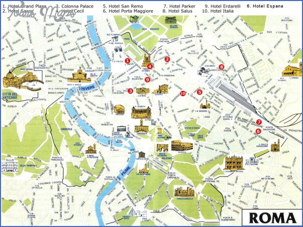 rome map tourist attractions 5 Rome Map Tourist Attractions