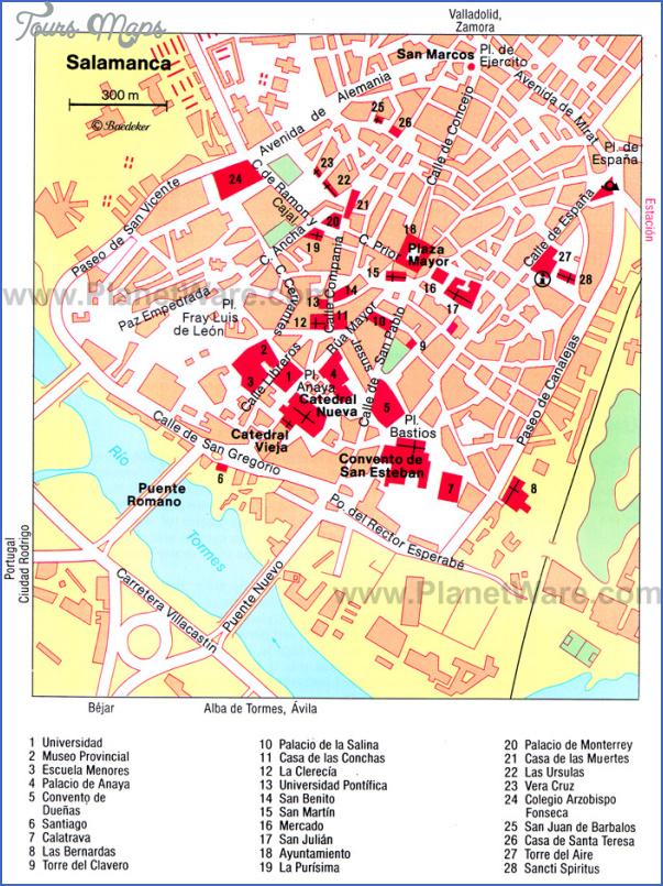 salamanca map 1 Salamanca Map