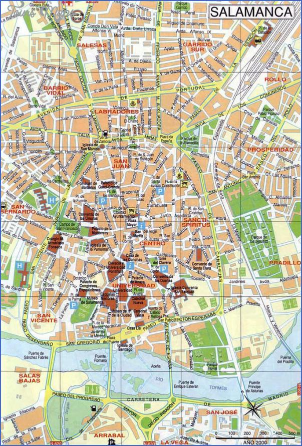 salamanca map 12 Salamanca Map