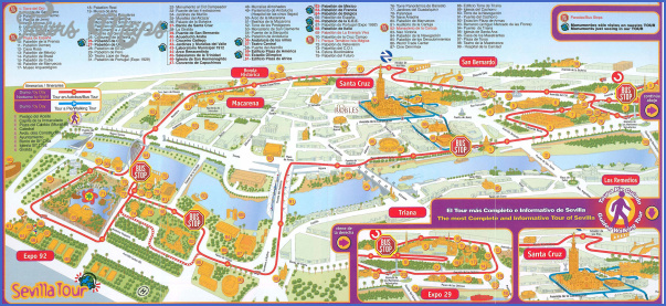 seville map tourist attractions 0 Seville Map Tourist Attractions
