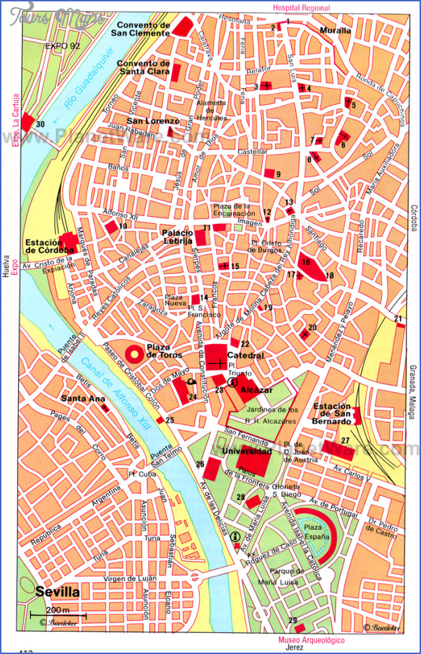 seville map tourist attractions 1 Seville Map Tourist Attractions