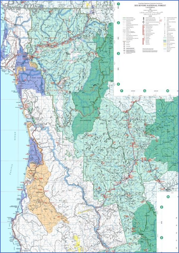 six rivers national fores map california 13 SIX RIVERS NATIONAL FORES MAP CALIFORNIA