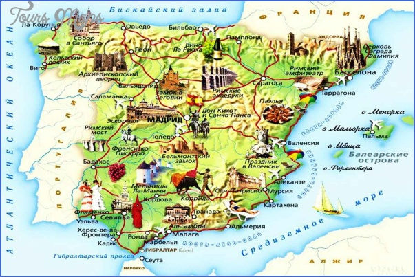 spain map tourist attractions 9 Spain Map Tourist Attractions