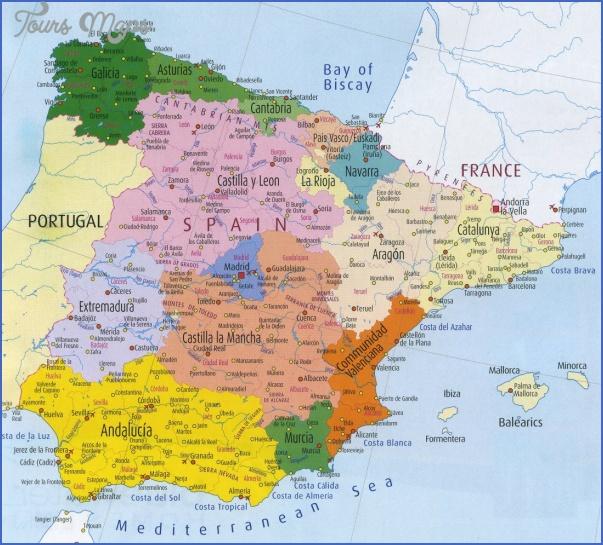 spain map 0 Spain Map