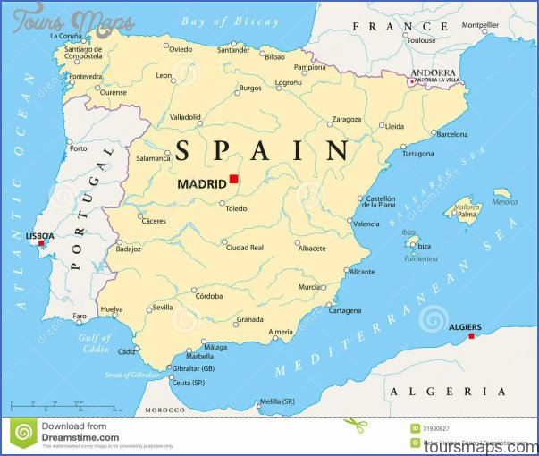 Holiday Map Of Spain.Map Of Spain Holiday Resorts Archives Toursmaps Com