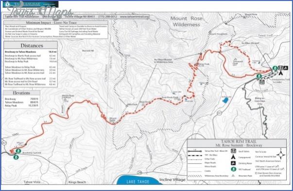 tahoe rim trail map california 0 TAHOE RIM TRAIL MAP CALIFORNIA
