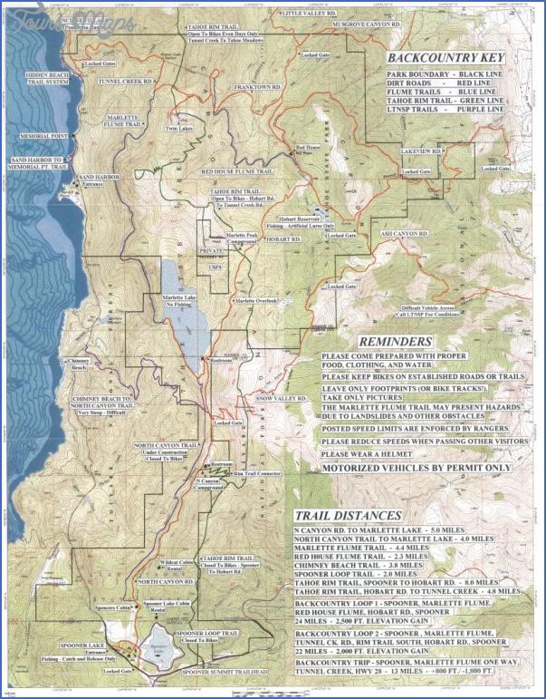 tahoe rim trail map california 23 TAHOE RIM TRAIL MAP CALIFORNIA