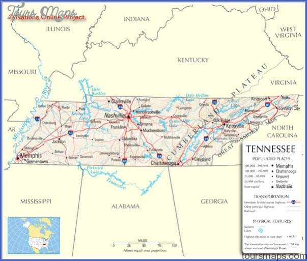 Tennessee Map Tourist Attractions ToursMapsCom – Tennessee Tourist Attractions Map