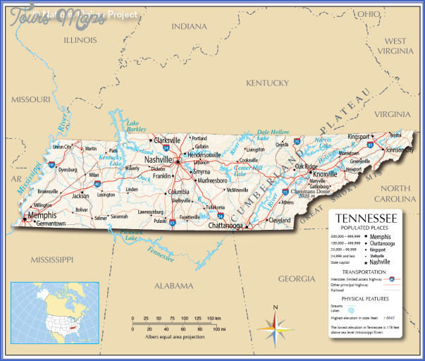 tennessee map 0 Tennessee Map