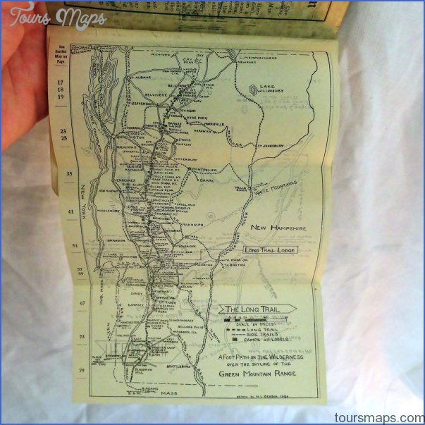 the long trail map vermont 12 THE LONG TRAIL MAP VERMONT