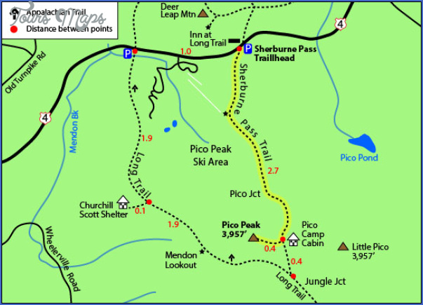 the long trail map vermont 45 THE LONG TRAIL MAP VERMONT