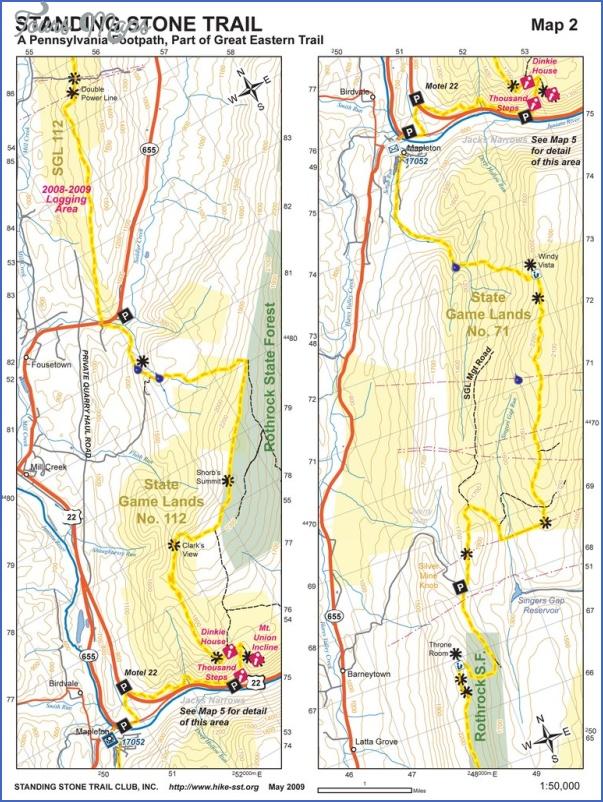 tuscarora trail map pennsylvania 0 TUSCARORA TRAIL MAP PENNSYLVANIA
