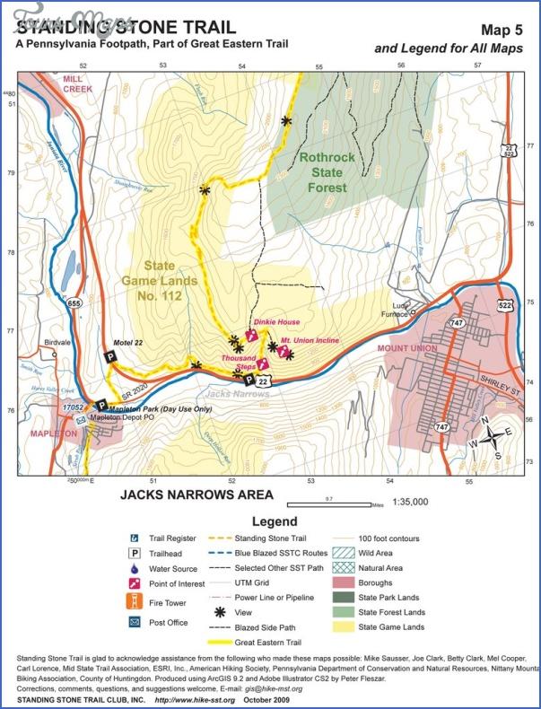 tuscarora trail map pennsylvania 7 TUSCARORA TRAIL MAP PENNSYLVANIA