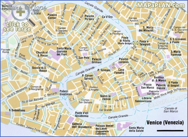 venice map tourist attractions 3 Venice Map Tourist Attractions