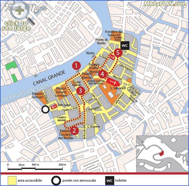 venice map tourist attractions 5 Venice Map Tourist Attractions