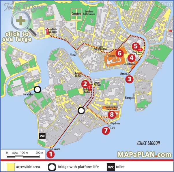 venice map tourist attractions 6 Venice Map Tourist Attractions