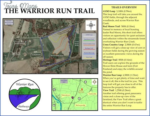 warrior trail map pennsylvania 1 WARRIOR TRAIL MAP PENNSYLVANIA
