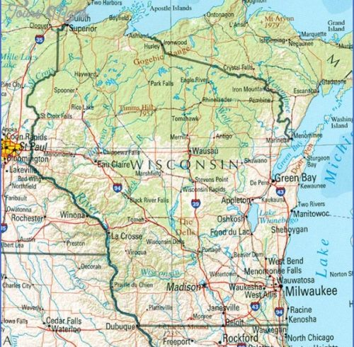 wisconsin attractions map Archives ToursMapsCom – Tourist Attractions Map In Wisconsin