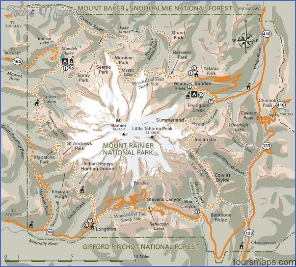 wonderland trail map washington 6 WONDERLAND TRAIL MAP WASHINGTON