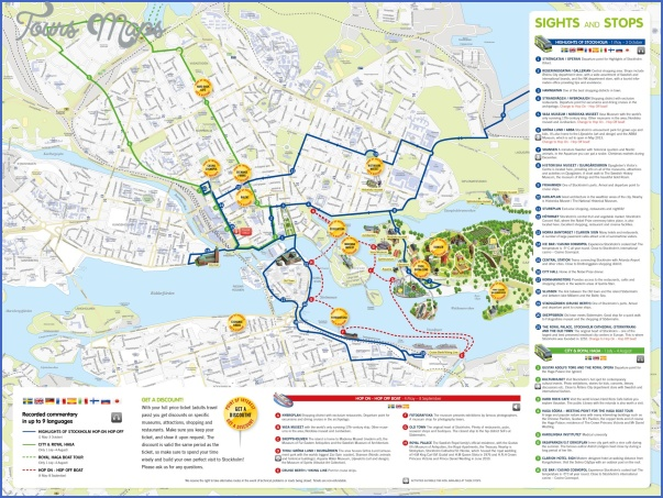 210 hoho routemap2013 Stockholm Map Tourist Attractions