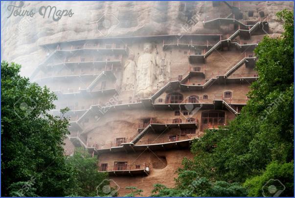 26622446 maiji caves in gansu maijishan grottoes located in tianshui county the maiji caves include 194 caves stock photo Grottoes of Maijishan Maijishan Shiku