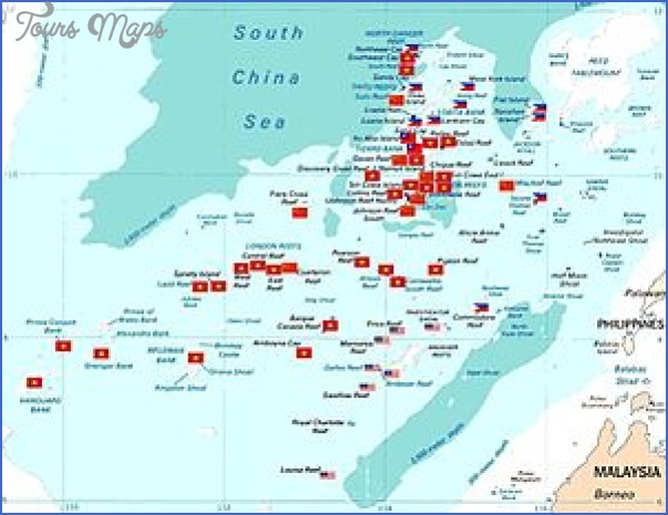 300px spratly with flags South China Sea Map