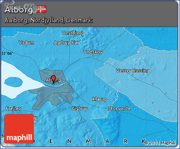 alborgaalborg map 5 AlborgAalborg Map
