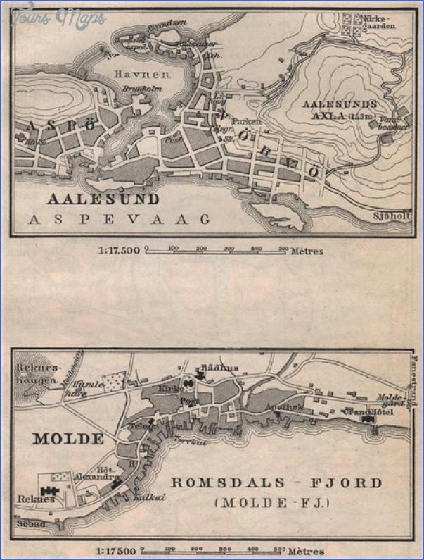 alesund norway central map 6 Alesund Norway Central Map