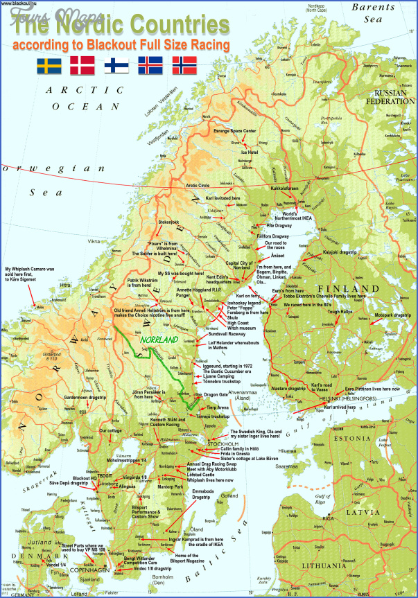 Arctic Circle Norway Sweden and Finland  Map  Travel  Holiday