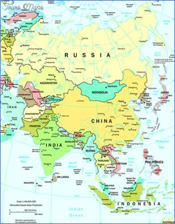 asia map Travel map of asia