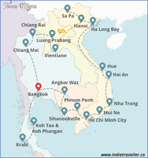 asia tourist destinations map 0 Asia tourist destinations map