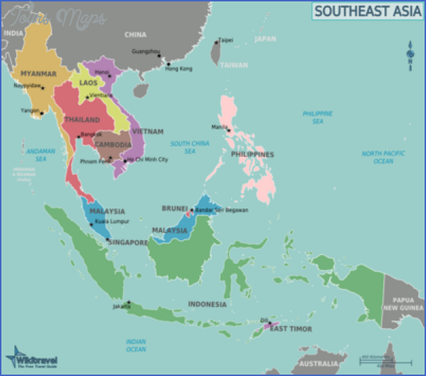 asia tourist destinations map 9 Asia tourist destinations map