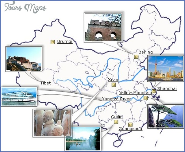 attraction map Chinese travel map