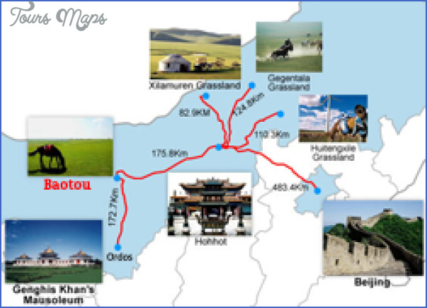 baotou travel map 250 Baotou Map