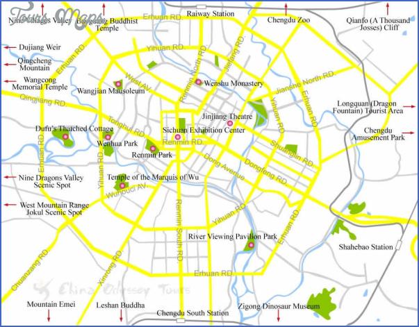 chengdu city big Chengdu Map