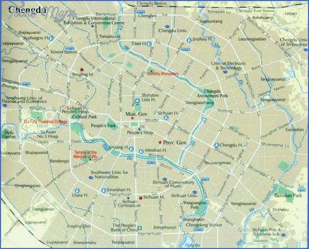 chengdu map Chengdu Map