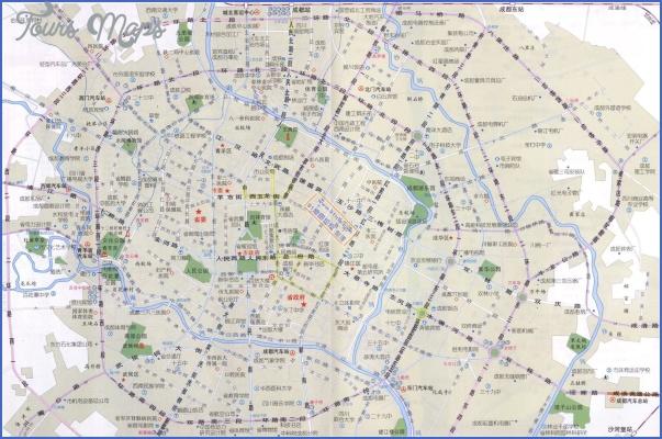 chengdu touristmap map Chengdu Map