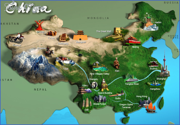 china attraction map 600 1 China travel guide map