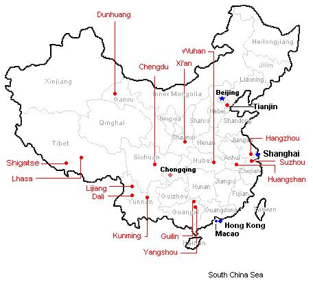 china map for travel 26 China map for travel