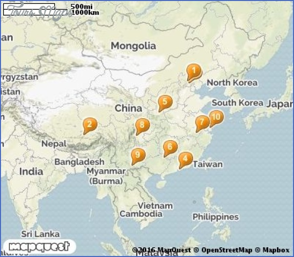 china tourist attractions map 7 China tourist attractions map