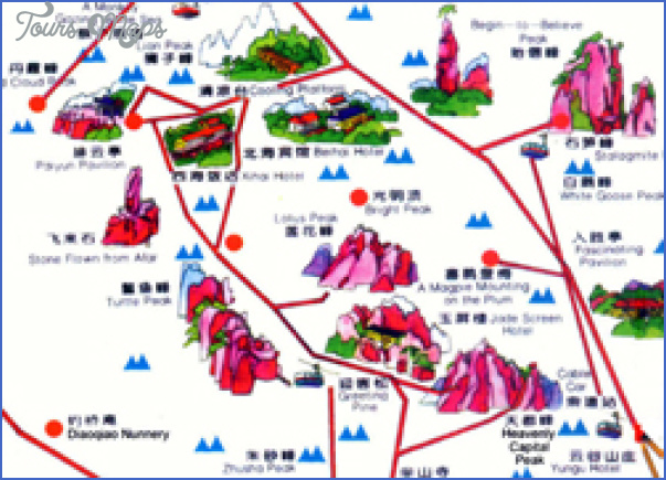 china tourist attractions map 8 China tourist attractions map
