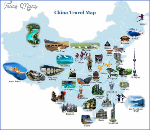 china travel map 1 China travel guide map