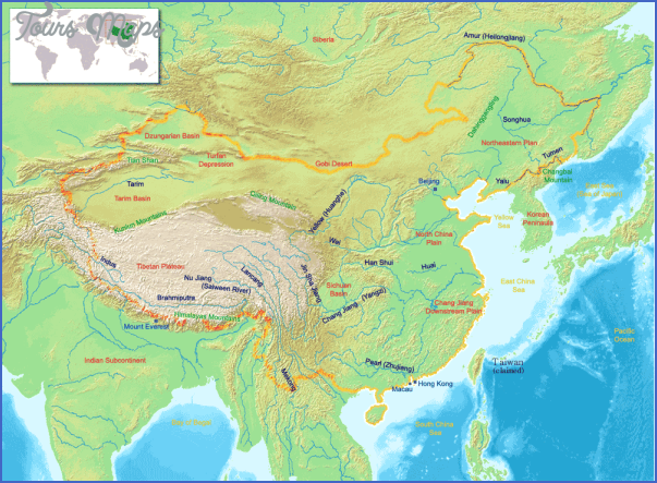 china geography rivers map China Topography